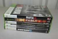 Microsoft Xbox 360 Video Game Lot (5) Oblivion GOTY, Skyrim, Fable - W/ Manuals