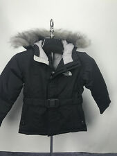 GIRLS KIDS THE NORTH FACE GREENLAND JACKET PARKA BLACK DOWN PUFFER SIZE XS NWT