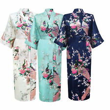 2018NEW Promotional Bride Long Women Kimono Robe satin silk Night dressing Gown