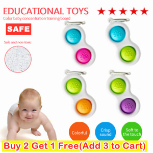 Baby Simple Dimple Sensory Toys--Silicone Flipping Board Brain Teasers Best Gift