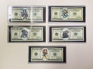 Marvel X-Men Lot Of 5 Novelty Collectible X-Men Characters 100 Dollar Bills