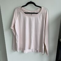Calia by Carrie Underwood Mesh Sleeve Top Women's Large Peach Whip Light Pink