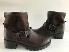 Aldo Womens Brown Winter Bootie Snow Boots with Faux Fur Lining Size 8.5 / 9