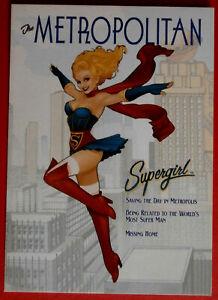 SUPERGIRL - DC COMICS BOMBSHELLS - The Metropolitan - PROMO Card P1 - Cryptozoic