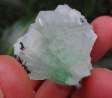SUPER STILBITE ON GREEN APOPHYLLITE FLOWER MINERALS E=1