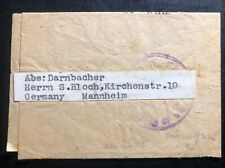1940s Isle Of Man England Prisoner War Knockaloe Camp Wrapper Cover To Germany