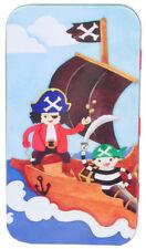 NEW Pirates Ahoy Kids Boys Girls School Pencil Case Tin