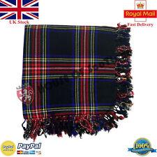 Homme Écossais Kilt Mouche Plaid Noir Motif Tartan Rouge Acrylique Laine 122cmx