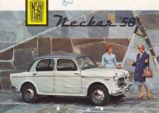 FIAT NSU NECKAR 58 Limousine Classic Car Prospekt Brochure 58