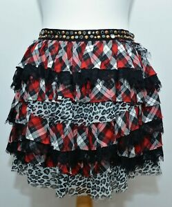 The Kooples Layered Tartan Skirt Size 2 (8-10 UK) Goth BNWT
