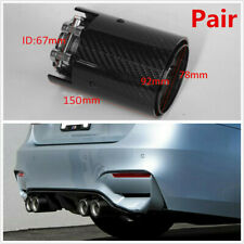 67MM Carbon Fiber Glossy Exhaust Pipe Tip For BMW 1234 M Performance M2 F87 M3