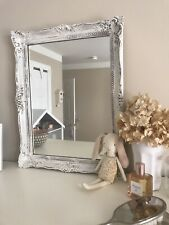 antique frame vintage mirror decor white mantel painted