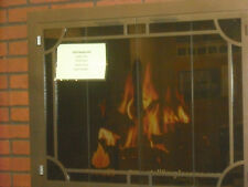 "Stoll Inset Fireplace Bifold Doors with Smoked Glass Copper Vein 38"" x 30"""