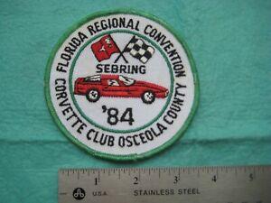 Corvette Club Florida Regional Convention Sebring 1984 Osceola County
