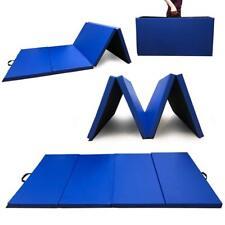 Angel Canada 4 Panel PU Leather Folding Gymnastics Gym Fitness(blue)