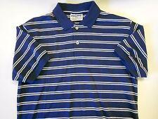 """NOS Vtg '90's NOLOGO Golf Polo Shirt Men's Size Med. 40"""" Chest Navy White"""