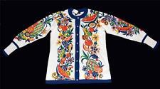Bob Mackie Big Bold Fruit on Front & Back Sweater Cardigan Wms XS/MED NWOT Nice