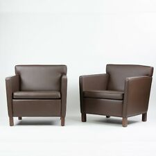 Mid 2000's Knoll International Mies Van Der Rohe Krefeld Lounge Chairs Leather