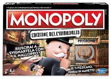HASBRO MONOPOLY EDIZIONE DELL'IMBROGLIO GIOCO IN SCATOLA FAMIGLIA SIGILLATO
