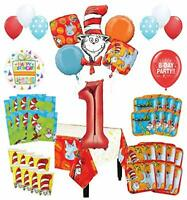 Mayflower Products Dr Seuss 1st Birthday Party Supplies 8 Guest Decoration Kit