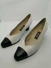 ladies Bally court shoes. White leather with blue toecap size uk 3.5