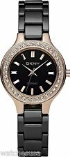 DKNY Ladies Watch Black Dial and Black Ceramic Strap NY4981