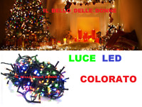 LUCI LED NATALE NATALIZIE ADDOBBI DECORAZIONE ALBERO DI NATALE 300LED MULTICOLOR