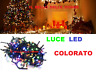 LUCI LED NATALE NATALIZIE ADDOBBI DECORAZIONE ALBERO DI NATALE 100LED MULTICOLOR