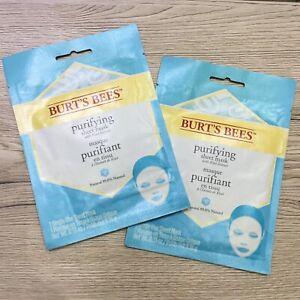2 ❌ Burt's Bees Purifying SHEET MASK With Kiwi Extract; Single Use Mask