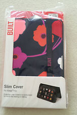 NEW Built NY - Kindle Fire - Slim Protective Cover Stand NWT Blue w/ Flowers