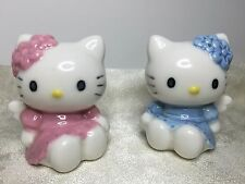 Hello Kitty Mimmy Salt Pepper Shakers Sanrio Ceramic Angel Wings Rare 1976 2000