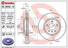 Disc Brake Rotor-Premium UV Coated OE Equivalent Rotor Front Brembo 09.B535.11