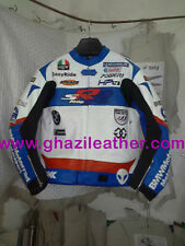 BMW MEN MOTORAD MOTORBIKE LEATHER RACING JACKET BLUE & WHITE AVAILABLE ALL SIZE