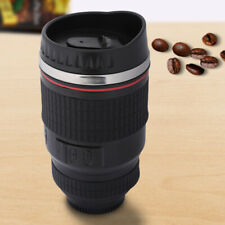 300-400ml Camera Lens Mug Tea Water Liner Travel Thermal Coffee Cup With Lid USA