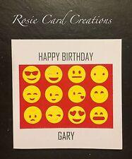 Luxury Handmade Card: Emoji, Happy Birthday, Dad, Boyfriend Husband Personalised
