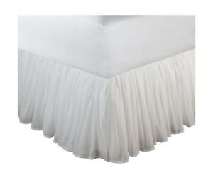 Greenland Home Cotton Voile Dust Ruffle 18-inch L White Full