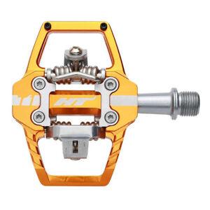 "HT Components Orange T1 Clipless Pedal Bike Pedals Pair 9/16"""