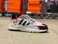 Adidas Nite Jogger Shoes White Res Red Mens Originals EH1293 NEW Multi Sizes