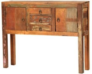 """40"""" L Console Table Timoteo Small Console Hand Built From Reclaimed Hardwoods"""