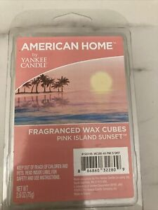 Yankee Candle Co American Home Wax Melts, Pink Island Sunset, 6 Cubes, 2.6 oz