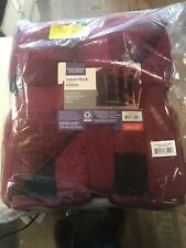 """Better Homes & Gardens Sherpa Throw Blanket, 50"""" x 60"""", Red Plaid"""