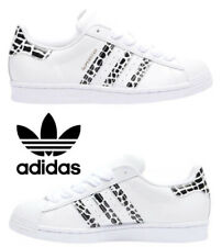 Adidas Originals Superstar Sneakers Women's Casual Shoes White Gold Black