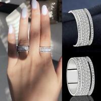 Luxury Female White Bridal Wedding Ring Set Engagement Rings for Women