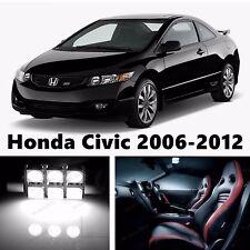 8pcs LED Xenon White Light Interior Package Kit for Honda Civic 2006-2012