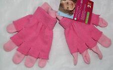 169474b989 Handschuhe 2 teiliges Set Fingerhandschuhe + Überzieher Mädchen rosa-pink
