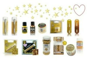 Edible Paint Glitter Sprinkles Cake Decorating Gold Wedding Christmas