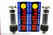MULLARD EL34 MATCHED PAIR VACUUM TUBES TESTED! - APEX MATCHING