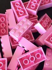 Lego 3001 New 2x4 Pink Bricks Blocks Buildings Wall Lot Of 25pcs