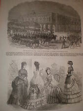 Uprising in Cuba Spanish Volunteers attack governors Palace Havana 1869 print
