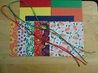 "Stampin Up! HAPPINESS BLOOMS 6 X 6"" Designer Paper Card Kit Ribbon"
